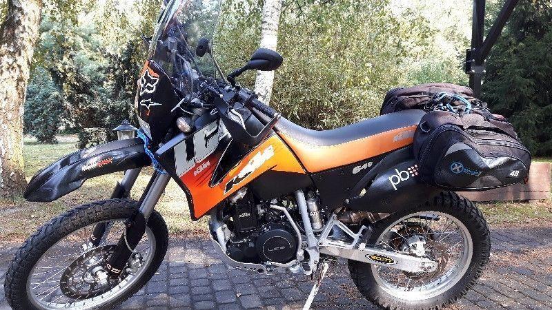 KTM LC4 rok 2003 nie używany w terenie, przygotowany do turystyki