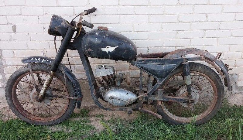 RAMA WSK M06 DWURAMÓWKA 125 motocykl MOTOR jawa romet junak komarek